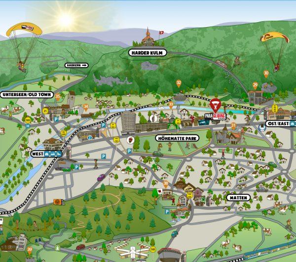 Interlaken Tourist Map 3D - Lake2Lake